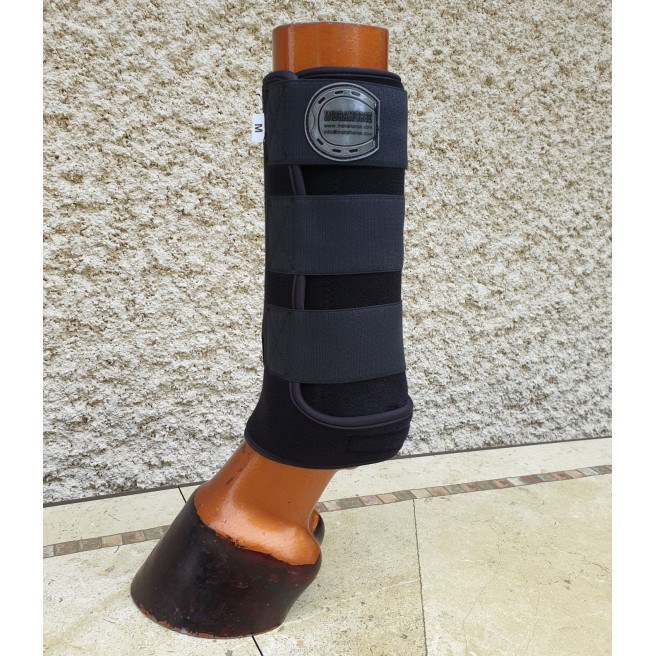 Horseboots Elite black with black piping
