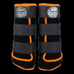 Horseboots black orange 2 pairs offer