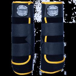 Beenbeschermers -zwart- goudgeel
