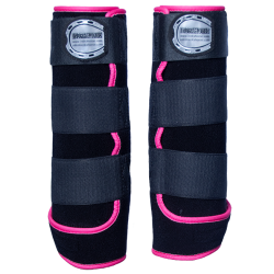 legprotectors FANTASY black pink