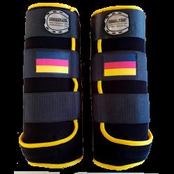 guetres fanatsy noir jaune drapeau allemand