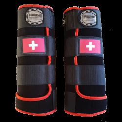 guetres fantasy noir rouge drapeau suisse