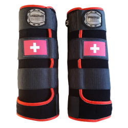 legprotectors fantasy black red swiss flag