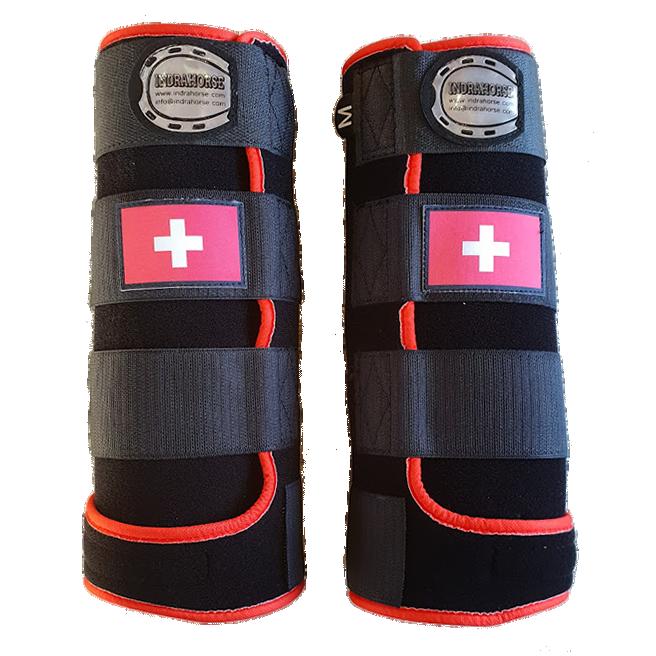 beenbeschermers fanatsy zwart rood zwitserse vlag