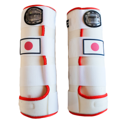 beenbeschermers fantasy wit rood japanse vlag
