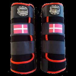 guetres fantasy noir rouge drapeau danois