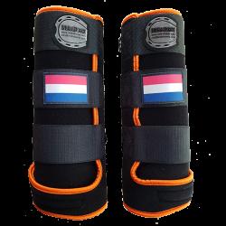 Gamaschen fantasy schwarz orange holländische Flagge