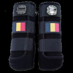 Beenbeschermers Elite zwart belgische vlag