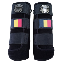 legprptectors Elite black belgian flag
