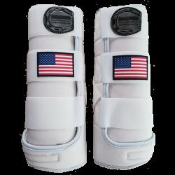 Beenbeschermers wit grijs amerikaanse vlag