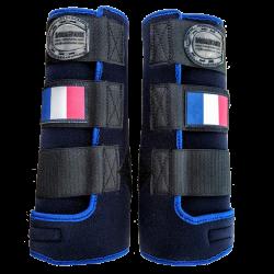 Beenbeschermer Fantasy navy lichtblauw franse vlag